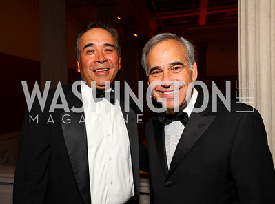 Victor Cabral and Texas Congressman Charles Gonzalez. 2009 Noche de Gala. Corcoran Gallery of Art. September 15 , 2009. Photos by Tony Powell.