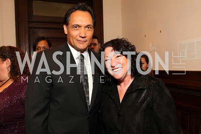 Jimmy Smits and Justice Sonia Sotomayor. 2009 Noche de Gala. Corcoran Gallery of Art. September 15 , 2009. Photos by Tony Powell.
