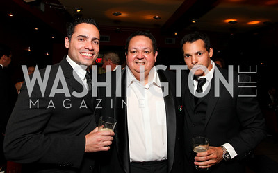 Steven DelCastro, Foundation Executive Director Richard Rodriguez, Milton Eric Lopez. 2009 Noche de Gala. Corcoran Gallery of Art. September 15 , 2009. Photos by Tony Powell.