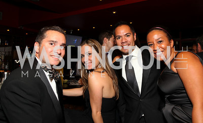 Joaquin Bacardi, Christine Moll, Daniel Martinez, Enjoli Duval. 2009 Noche de Gala. Corcoran Gallery of Art. September 15 , 2009. Photos by Tony Powell.