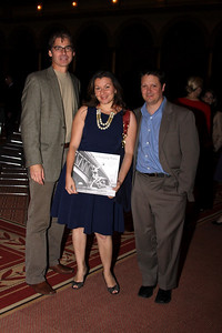 Brad Brown, Ellie Stamatpoulos, Dan Consolatorke Philip Trager Reception. October 7; 2009. Photos by Michael Domingo
