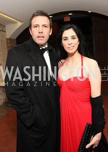 Ben Affleck, Sarah Silverman, Photo by Tony Powell