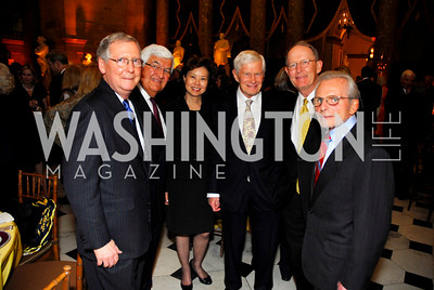 Mitch McCONNELL,TOM KOROLOGOS, ELAINE CHAO, FRED MALECK, LAMAR ALEXANDER, FRANK CARLUCCI. Photograph by Kyle Samperton