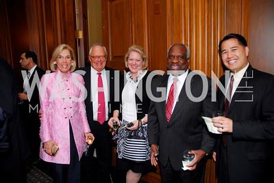 Ed Feulner, Ginni Thomas,  Clarence Thomas, Derek Lan. Photograph by Kyle Samperton