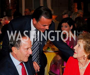 Mort Zuckerman, Nancy Reagan,  Rick Caruso. Photograph by Kyle Samperton