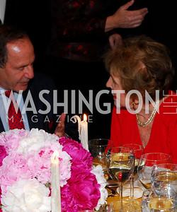 Mort Zuckerman , Nancy Reagan. Photograph by Kyle Samperton
