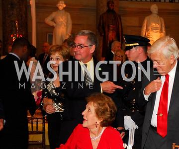 Nancy Reagan, Robert Higdon, John Whitehead. Photograph by Kyle Samperton