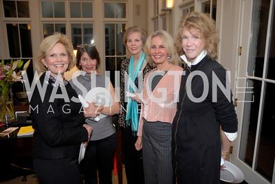 Lou Davidson, Susan Shreve, Lady Charlotte St. Johnston, Sally Quinn, Edith Kuhnle