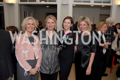 Sally Quinn, Elizabeth Gilbert, Ludmilla Cafritz, Kay Kendall
