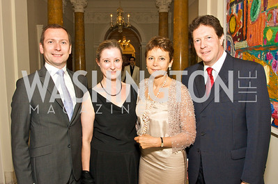 Kevin O'Hare, Elizabeth Ferguson, Lady Julia Sheinwald, Sir Nigel Sheinwald, Photograph by Tony Powell