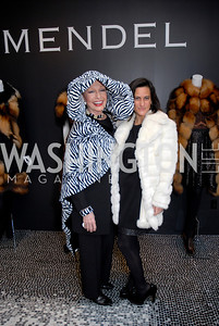 Pat Skantze and Rebecca Fishman at the Saks Jandel Fashion Show for Knock Out Abuse at Chevy Chase. Photo by Kyle Samperton.