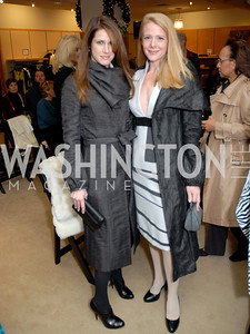 Robin Trepanier and Hayley Pivato at the Saks Jandel Fashion Show for Knock Out Abuse at Chevy Chase. Photo by Kyle Samperton.
