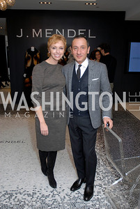 Susan Sokol and Gilles Mendel at the Saks Jandel Fashion Show for Knock Out Abuse at Chevy Chase. Photo by Kyle Samperton.