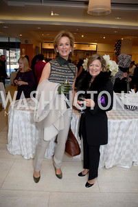 Fabiola Martens and Holly Ruffin at the Saks Jandel Fashion Show for Knock Out Abuse at Chevy Chase. Photo by Kyle Samperton.