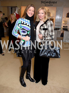 Mary Amons and Cheryl Masri at the Saks Jandel Fashion Show for Knock Out Abuse at Chevy Chase. Photo by Kyle Samperton.