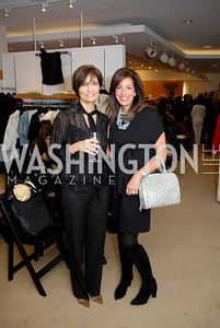 Paula Widerlite and Soraya Rubin at the Saks Jandel Fashion Show for Knock Out Abuse at Chevy Chase. Photo by Kyle Samperton.