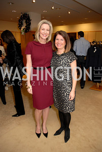Cynthia Vance and Bobbi Smith at the Saks Jandel Fashion Show for Knock Out Abuse at Chevy Chase. Photo by Kyle Samperton.