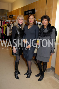 Capi Renoir, Martina Bradford and Cora Williams at the Saks Jandel Fashion Show for Knock Out Abuse at Chevy Chase.  Photo by Kyle Samperton.