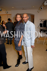 Lisa Beale and Darnell Manu at the Saks Jandel Fashion Show for Knock Out Abuse at Chevy Chase. Photo by Kyle Samperton.
