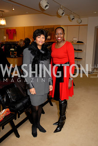 Cora Williams and Shebra Simms at the Saks Jandel Fashion Show for Knock Out Abuse at Chevy Chase.  Photo by Kyle Samperton.