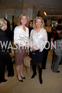 Eva Hofstrom and Gunilla Ekberg at the Saks Jandel Fashion Show for Knock Out Abuse at Chevy Chase. Photo by Kyle Samperton.