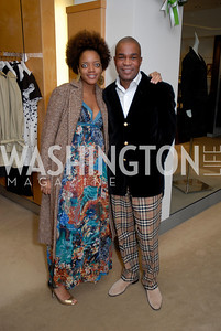 LaNora Williams and George Worrell at the Saks Jandel Fashion Show for Knock Out Abuse at Chevy Chase.  Photo by Kyle Samperton.