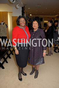 Linda Cropp and Camille Young at the Saks Jandel Fashion Show for Knock Out Abuse at Chevy Chase.  Photo by Kyle Samperton