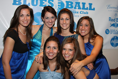 Catalina Cabral, Christiana Gallagher, Carissa Maguire, Taryn Fielder, Kristen Murdock, Samantha Dredge 4th Annual Friends of St. Jude Blues Ball. November 7, 2009. Photo's by Michael Domingo