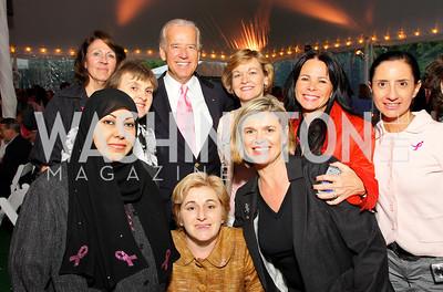 Joe Biden with cancer survivors