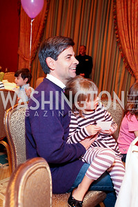 George and Harper Stephanopoulos. THEARC's Dr. Seuss Tea. Four Seasons Hotel. October 11, 2009. photos by Tony Powell