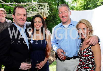 Rick Powell, Dina Habib Powell, John King, Dana Bash, photos by Tony Powell