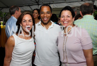 Melissa Moss, Jonathan Capehart, Debra Lee, photos by Tony Powell