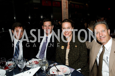 Jim Pomershan, Lt. Cnl Hal Hanson, Bonnie Carole Taps, Cpt. Steve Blankenship. ThanksUSA Gala. Newseum. October 14, 2009. Photos by Betsy Spruill Clarke.