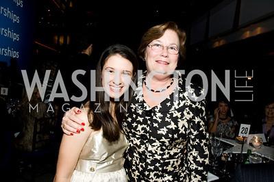 Rachel Okun, Michelle Stork. ThanksUSA Gala. Newseum. October 14, 2009. Photos by Betsy Spruill Clarke.