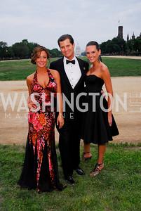 Danielle Wade, John Cecchi, Kristin Rae Irish. L'Enfant Society Ball on the Mall 2009. Photos by Kyle Samperton.