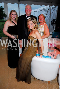 Cameron Gilreath, Morgan Gilreath, Margaret Barry (seated), Marissa Mitavich. L'Enfant Society Ball on the Mall 2009. Photos by Kyle Samperton.