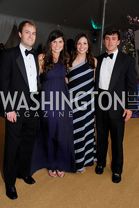 Jeff Phillips, Erin Bladergroen, Jill Hutchens, John Norris. L'Enfant Society Ball on the Mall 2009. Photos by Kyle Samperton.