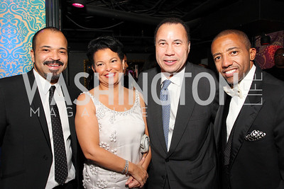 Jeffrey Wright, Debra Lee, Ken Marks, Kevin Liles, Photo by Tony Powell
