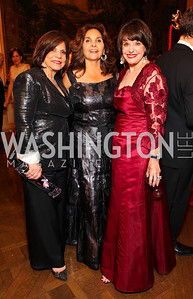Rhoda Glickman, Samia Farouki, Marlene Malek. The Meridian Ball. Meridian International Center. October 2, 2009. photos by Tony Powell