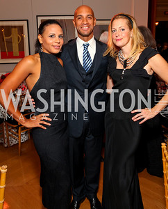 Michelle Fenty, Adrian Fenty, Alexandra Wentworth. The Meridian Ball. Meridian International Center. October 2, 2009. photos by Tony Powell