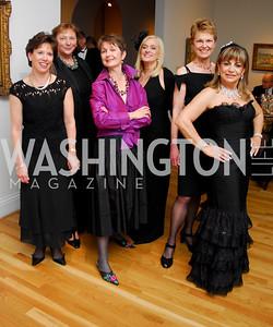 """Vicki Tanner"", ""Paula Dailey"", ""Dorothy Kosinski"", ""Trish Vradenburg"", ""Annie Totah"". The Phillips Collection Gala. May 15, 2009. Photos by Kyle Samperton."