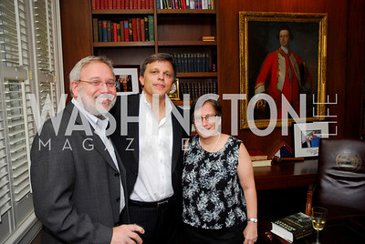 kyle samperton,july 26,2009,The Wilderness Warrior book party,Steve Zuckerman,Douglas Brinkley.Andrea Stone, Photograph by Kyle Samperton