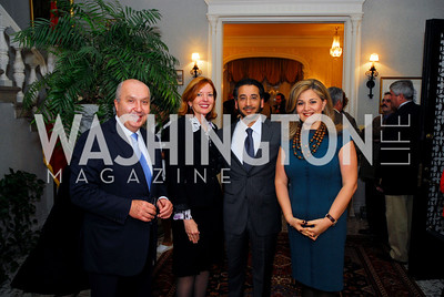 Amb.Antoine Chedid, Marie Royce, Amb,Abdulwahab Al-Hajjri, Nicole Chedid. Kyle Samperton,October 19,2009,Thomas/Crawford Book Party.