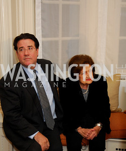 Craig Crawford, Helen Thomas. Thomas/Crawford Book Party. Photograph by Kyle Samperton,October 19,2009