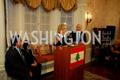 Craig Crawford, Helen Thomas, Andrea Mitchell, Amb.Antoine Chedid. Thomas/Crawford Book Party, Photograph by Kyle Samperton,October 19,2009