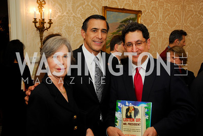 Kathy Issa, Rep.Darrell Issaa, Jean AbiNader. Thomas/Crawford Book Party. Photograph by Kyle Samperton,October 19,2009