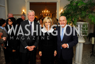 Amb.Pierre Vimont, Andrea Mitchell, Amb.Antoine Chedid. Kyle Samperton,October 19,2009,Thomas/Crawford Book Party.