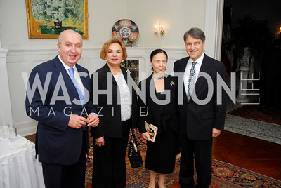 Kyle Samperton,October 19,2009,Thomas/Crawford Book Party.Amb.Antoine Chedid,Tuna Koprulu,Gulgun Sensoy.Amb.Nabi Sensoy