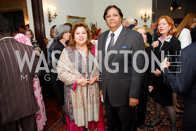 Shaista Mahmood, Ray Mahmood. Thomas/Crawford Book Party. Photograph by Kyle Samperton,October 19,2009