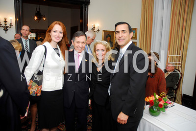 Elizabeth Kucinich , Rep.Dennis Kucinich , Debbie Dingell, Rep.Darrell Issa. Thomas/Crawford Book Party. Photograph by Kyle Samperton,October 19,2009,